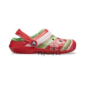 Classic Lined Crocs Christmas Ugly Sweater Clogs