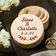 Personalised Ring Box Engraved Anniversary Proposal Engagement Wedding Gift
