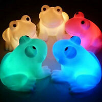 Cute Magic LED Night Lights Frog Shape Colorful Changing Lamp Room Bar Decor