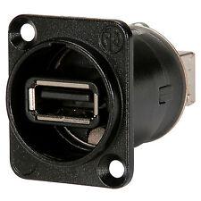 Neutrik NAUSB-W-B Feed-thru Reversible USB A/B Adapter D Pan