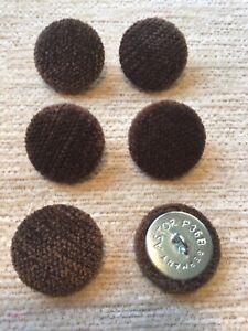 Mocha Pimlico Chenille Velvet 36L/23mm Upholstery Loop Back Buttons Brown