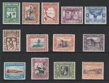 Sierra Leone 1933 George V Complete set SG 168-180 Mnh.