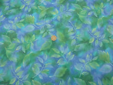 Quilting Fabric Green Yellow Blue Leaves 100% Cotton Fat Quarter
