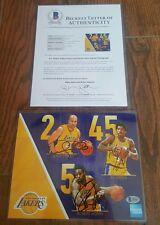 LA Lakers 8x10 signed by A.C. Green, Derek Fisher & Robert Horry Beckett coa