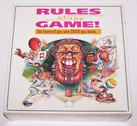 NEW IN BOX/SEALED RULES OF THE GAME TRIVIA BOARD GAME
