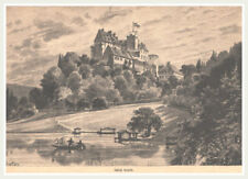"""Seefeld """"Schloß Seefeld"""" Pilsensee-Ammersee. Orginal Holzstich erschienen 1888"""