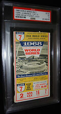 1968 WORLD SERIES GAME 7 TICKET DETROIT TIGERS CLINCH 3RD WS TITLE PSA 5 RARE