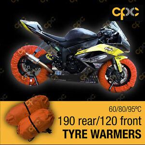 Orange Superbike TYRE WARMERS set motorbike race track motorcycle TIRE WARMER D3