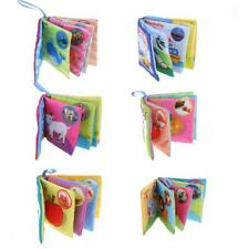 Baby Kids Cognize Chinese English Shapes Cloth Sound Book Educational Toy 6X