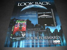 LOOK BACK from Earth To Moon LOOK FORWARD to Spawn 1999 PROMO DISPLAY AD mint