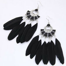 1 Pair Creative Design Elegant Vintage Ethnic Feather Earrings Boho Style