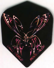 Purple and Pink Butterfly Dart Flights: 3 per set