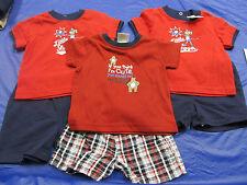 6 Piece Lot Infant Toddler Clothing Shirts Shorts Sz 0-6m