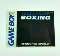 Heavyweight Championship Boxing Nintendo Game Boy Instruction Manual Book Only