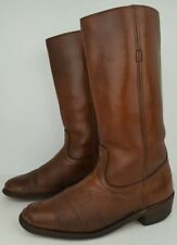 """Frye Mens Size 10 D Distressed Brown Leather Tall Western Cowboy Boots 12.5"""""""