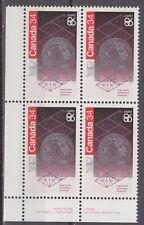 CANADA #1092 34¢ Expo 86 LL Inscription Block MNH