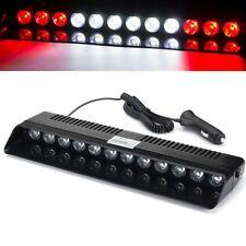12LED Car Red White Red Emergency Warning Dashboard Visor Flash Strobe Light Bar