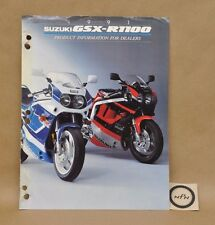 1991 Suzuki GSX-R1100 GSXR1100 Dealer Product Information Specification Brochure