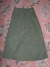 Olive Green Calf Length Woollen Skirt Size 12 (best guess)