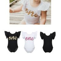 Baby Toddler Girls Birthday Romper Smash Cake Jumpsuit Casual Party Bodysuit