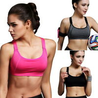 Women Stretch Running Sport Bra Padded Fitness Tank Tops Workout Gym Yoga Vest