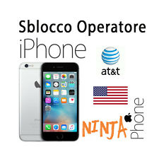 SERVICE SBLOCCO OPERATORE UNLOCK ALL IPHONE  CARRIER AT&T USA BARRED / ACTIVE