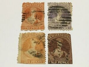 old stamps  NEW ZEALAND     x  4