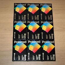 9 x Polaroid 8mm Video Cassette, P5-30 MP, Camcorder, Tape, Bundle, Joblot, New