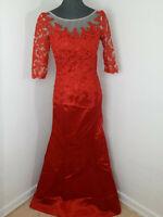 Neues IDRESS Cocktailkleid Abendkleid mit Spitze Gr 38 Rot Tüll 3/4 Arm