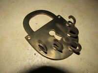 VINTAGE HEAVY BRASS LOCK SHAPED WALL MOUNT KEY HOLDER