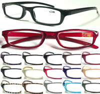L266 Mens Womens Small Pocket Style Reading Glasses Lightweight Plastic Frame