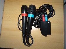 Oficial 2X con Cable Singstar Micrófonos + USB Adaptador para PS2 PS3 PS4