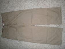 TOMMY HILFIGER womens beige losse fit cotton trousers size W30 L32