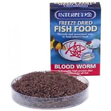 Interpet Freeze Dried Fish Food BloodWorm Red Protien Diet All Fish Turtles 4g
