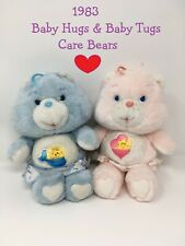Vintage 1980's Care Bears Baby Hugs + Baby Tugs by Kenner *1983*