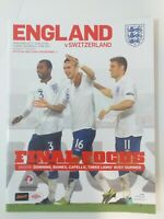 ENGLAND v SWITZERLAND 2011 - FOOTBALL PROGRAMME WEMBLEY