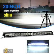 "20"" Inch 420W CREE LED Light Bar Dual Row ❗❗ Spot Flood Combo DRL Light SUV 4X4"