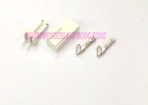 KF2510 2.54mm 2-Pin Female Connector, Male Straight Header & Crimp x 30 SETS