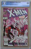 UNCANNY X-MEN #247 (Aug 1989 | Marvel) PGX 8.5 (VF+) Like CGC - White Pages