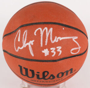 Alonzo Mourning Signed NBA Basketball (JSA) #2 Pick 1992 NBA Draft / Miami Heat
