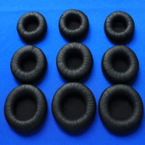 Replacement Ear Pads Cover Leather For Headphone Size 45mm 55mm 60mm 70mm 90mm