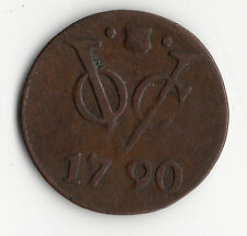 PAS COURANTE MONNAIE EN CUIVRE : DUIT NETHERLANDS EAST INDIES DE 1790 @ QUALITE