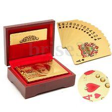 1Pcs  24K Karat Gold Plated Poker Playing Card With Nice Wood Box &Certificate