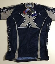 Adrenaline Promotions Xavier Musketeers Mens Medium Gray Blue Cycling  Jersey New ac70ce86e