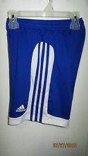 Youth Medium Adidas ClimaLite Casual Athletic Running Soccer Track Shorts Blue