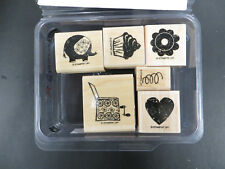 STAMPIN UP OUT OF THE BOX SET OF 6 STAMPS JACK IN THE BOX WITH ITEMS