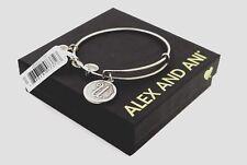 BRAND NEW Alex and Ani Initial U Bracelet Rafaelian Silver with Tag, Box, & Card