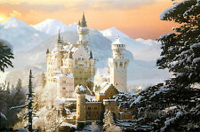 SCHLOSS NEUSCHWANSTEIN POSTER (61x91cm) REINHOLD KIRSCH NEW LICENSED ART