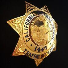 Obselete California Highway Patrol Badge CHP Traffic Officer Police Hallmark