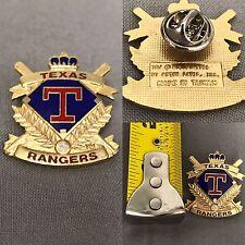 MLB Baseball Pin, Pin-Back Vtg. 1990, Texas Rangers Peter David Gold/blue